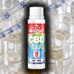 BAZA NEUTRALNA CBD – PG40/VG60 - 18mg - 100 ml
